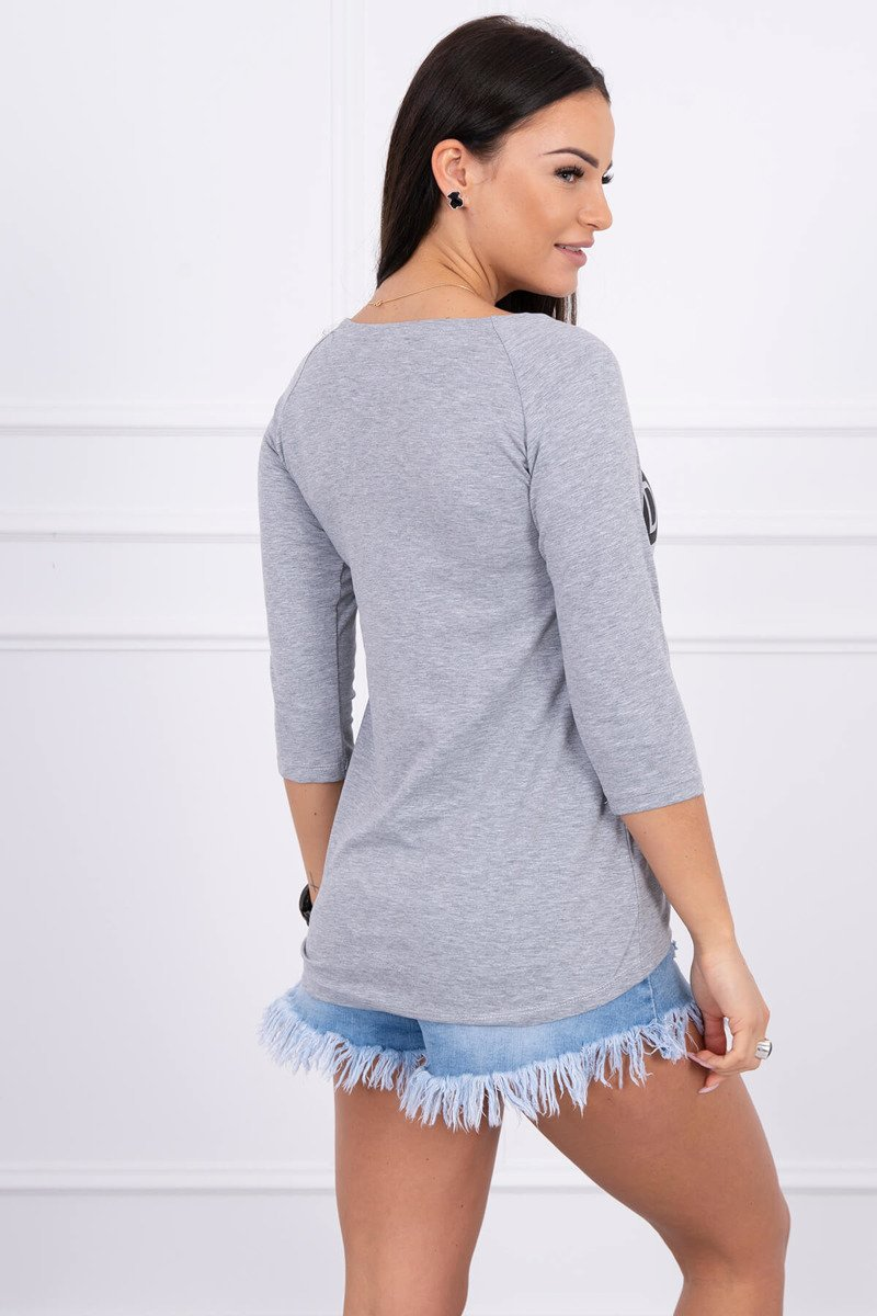 eng pl A blouse Dont Look Back gray melange 1477 2