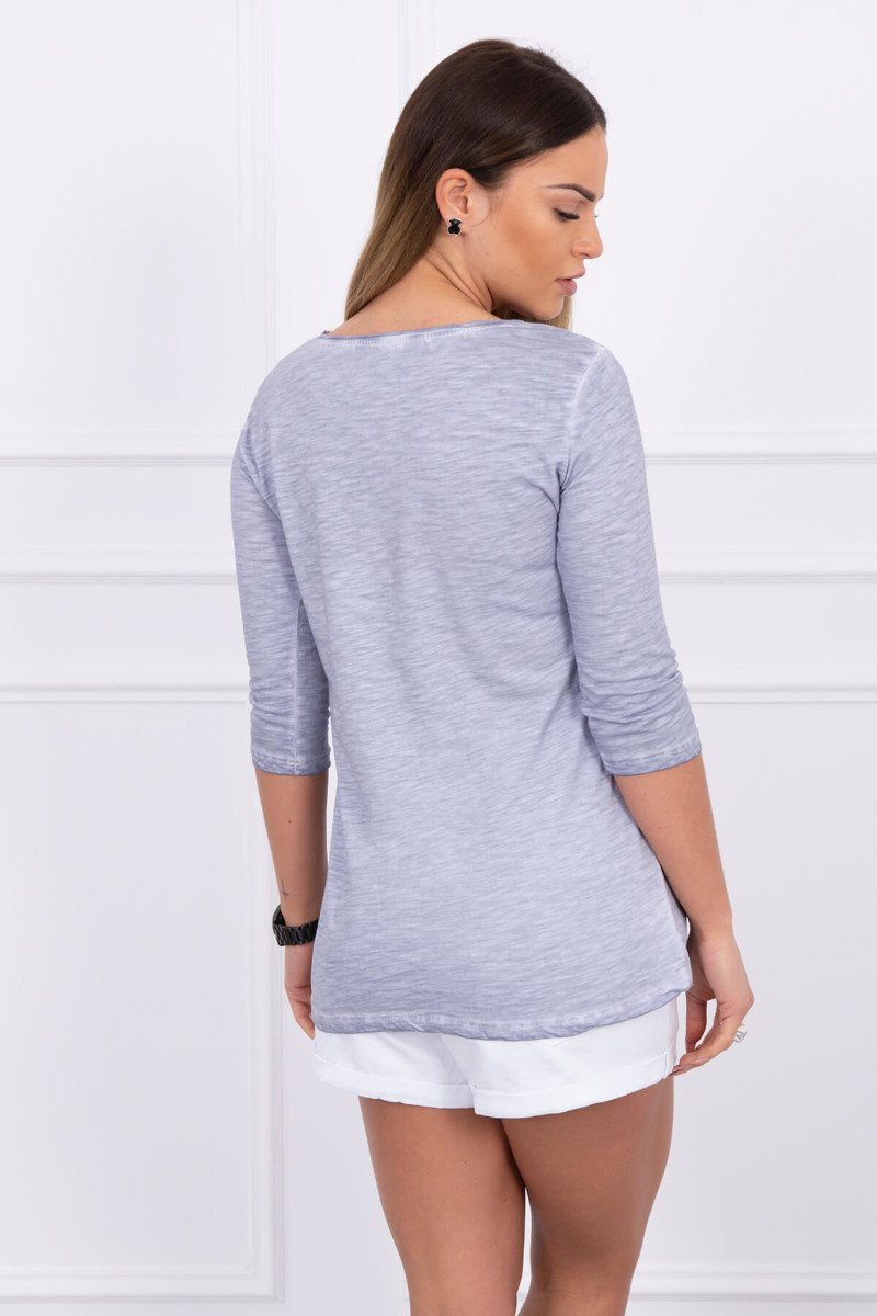 eng pl A blouse Girls gray melange 1564 2
