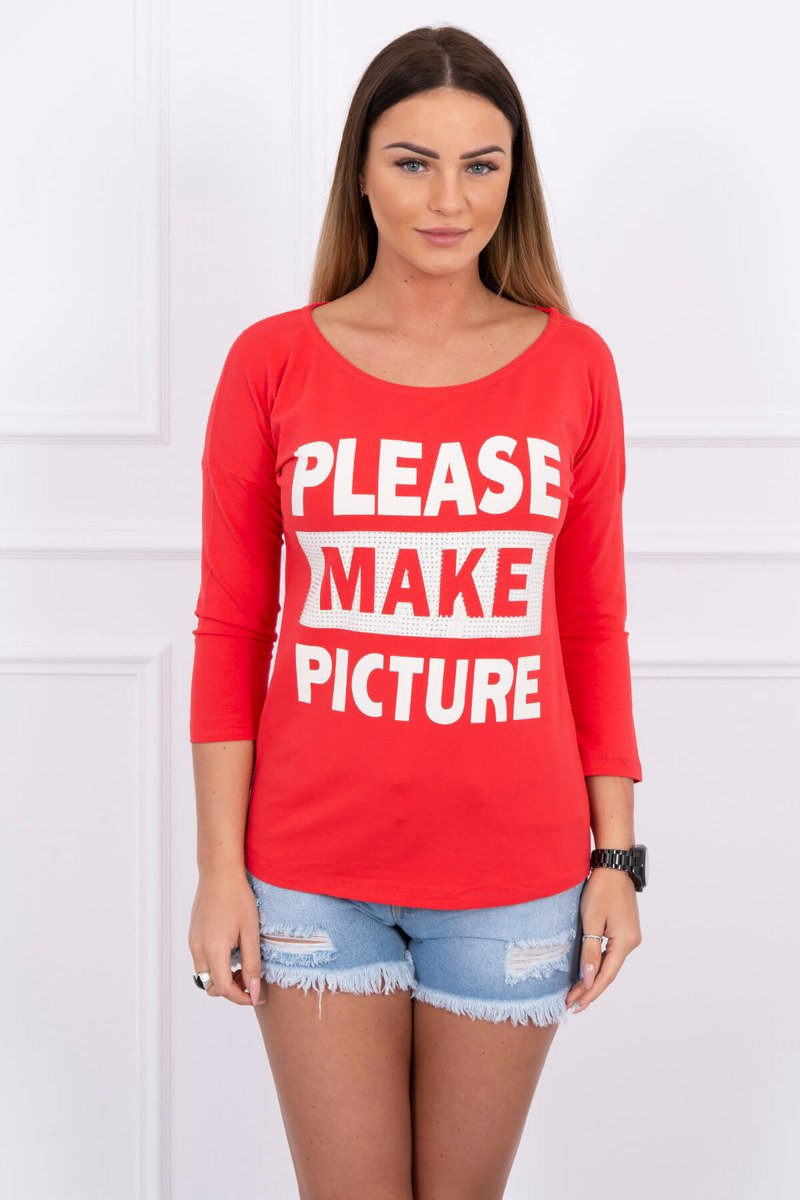 eng pl A blouse Take a picture of me red 1606 1