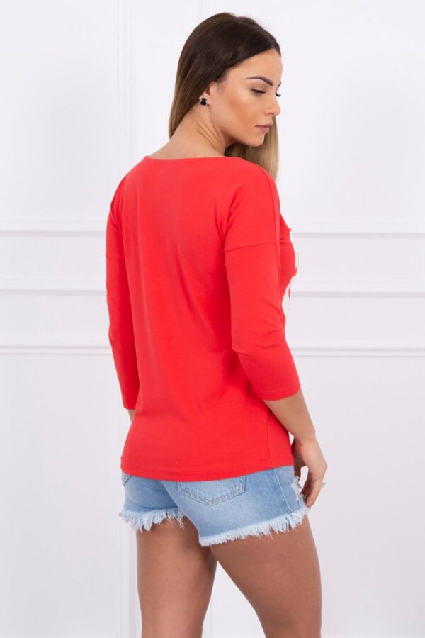eng pl A blouse Take a picture of me red 1606 2