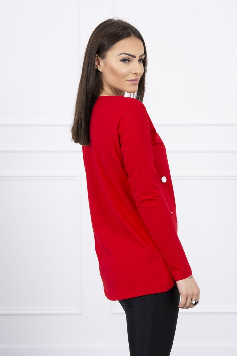 eng pl A blouse with large sequins red 8710 2