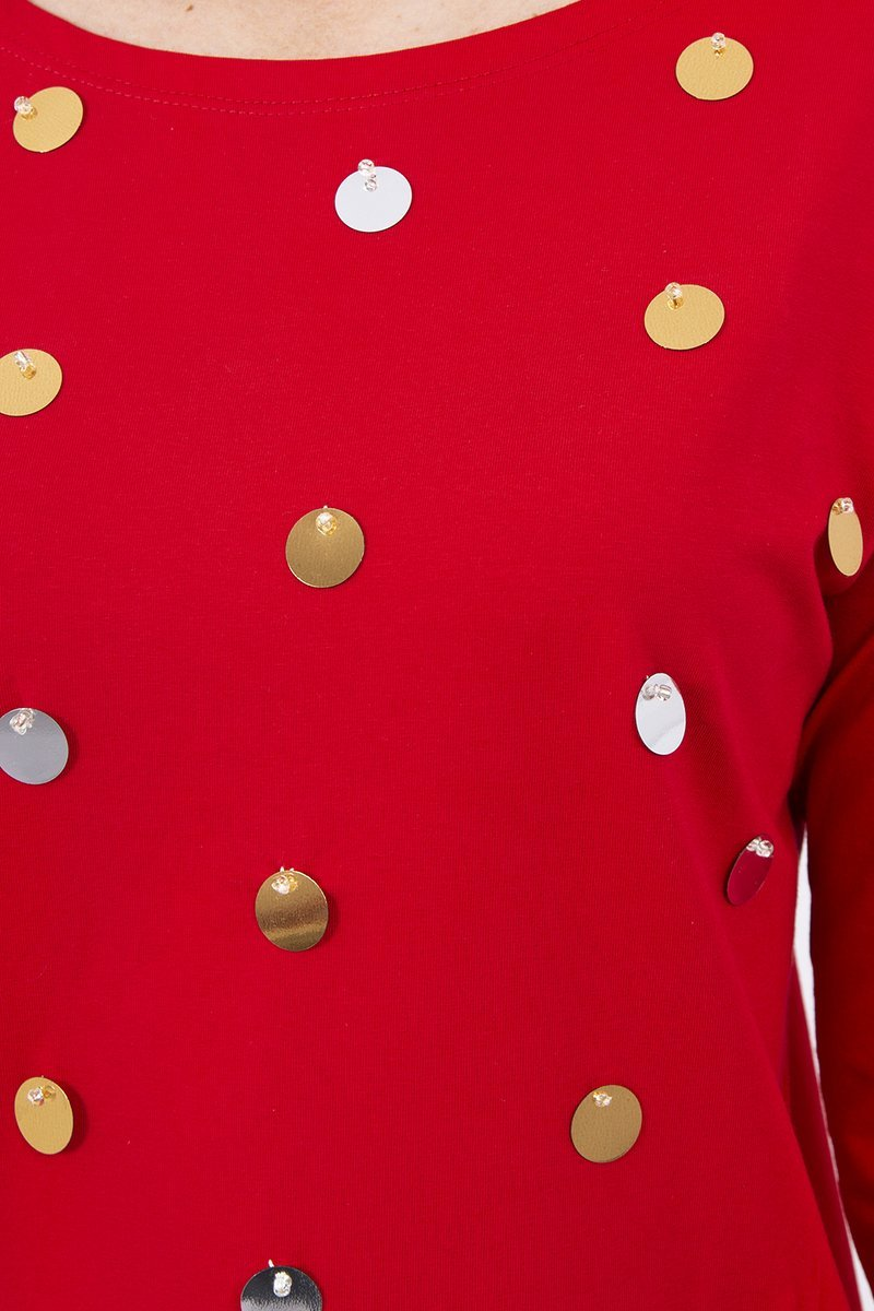 eng pl A blouse with large sequins red 8710 3