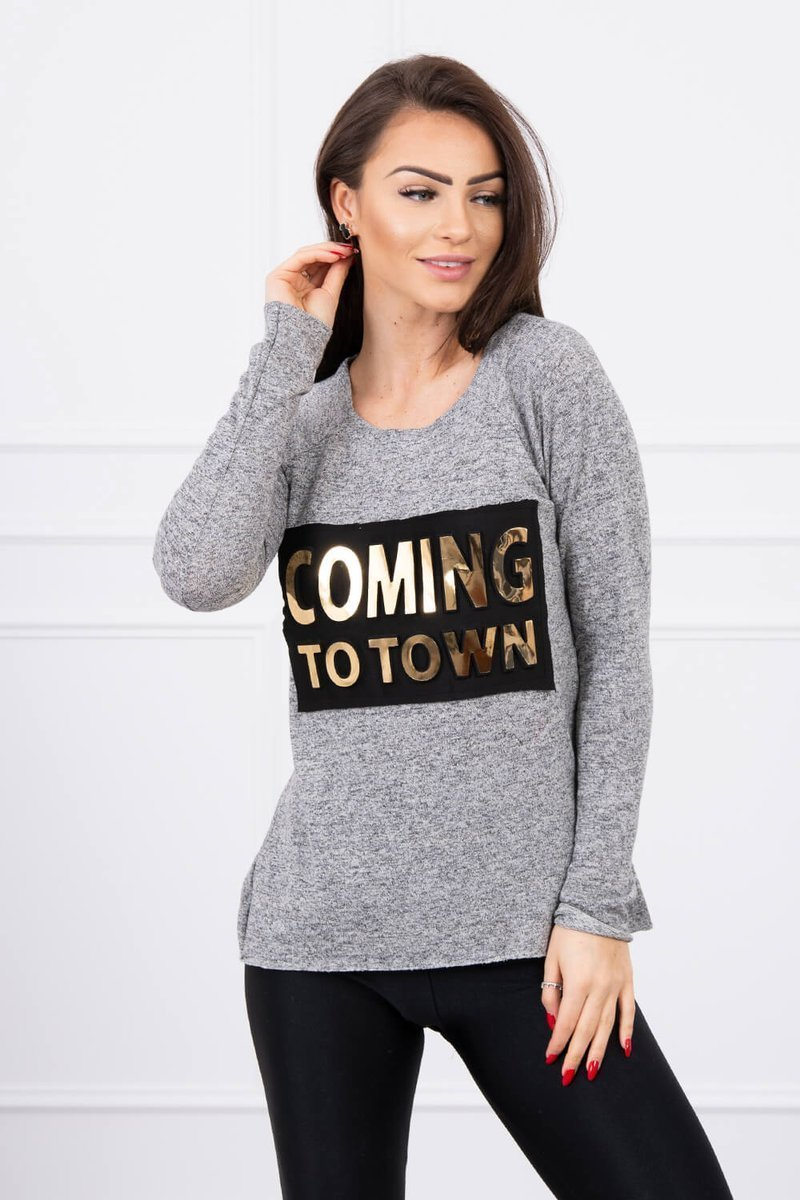 eng pl A blouse with the inscription gray 577 1