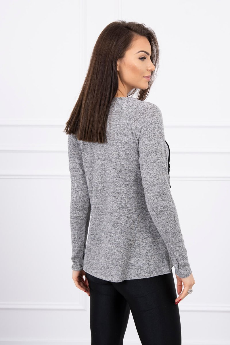 eng pl A blouse with the inscription gray 577 2