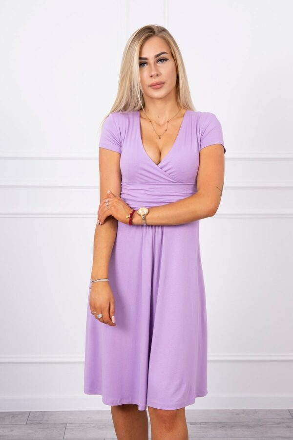 eng pl Dress cut under the bust long sleeve short sleeve purple 17748 3