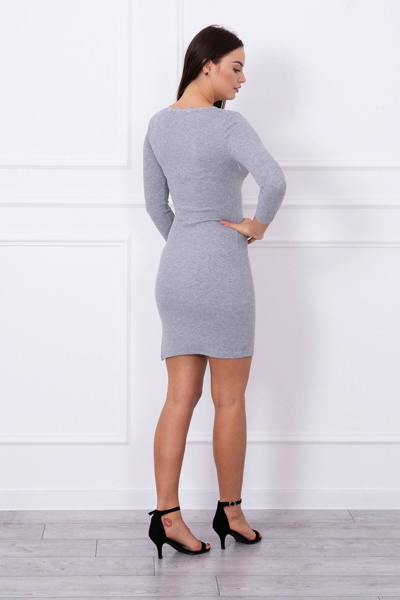 eng pl Dress finished with lace gray 13919 2