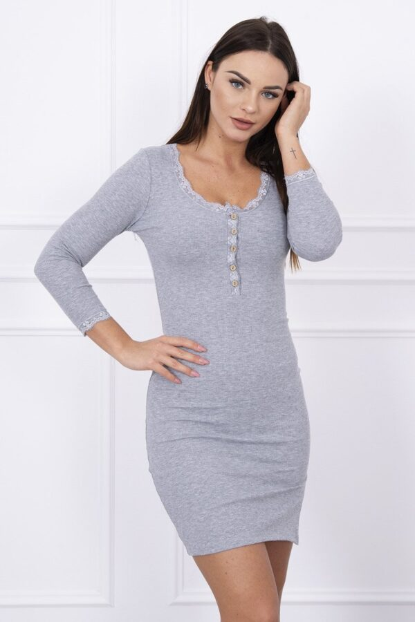 eng pl Dress finished with lace gray 13919 3