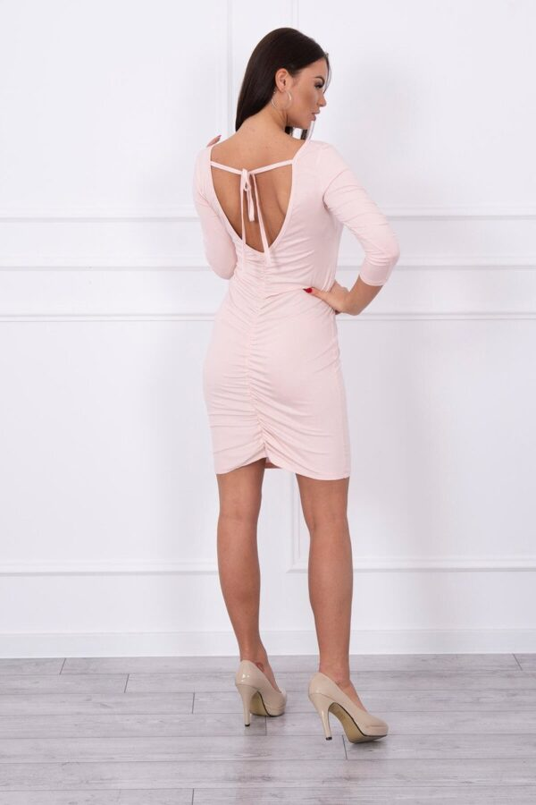 eng pl Dress ruffled at the back powdered pink 14312 2