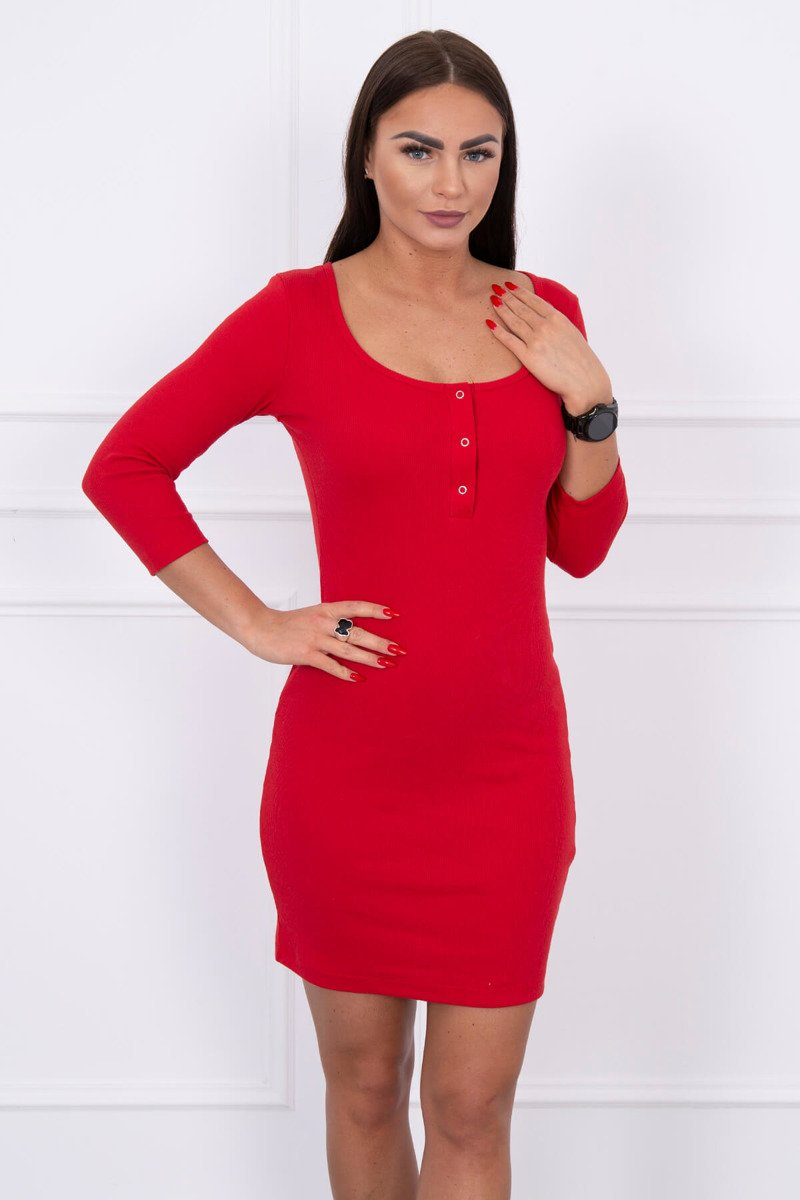 eng pl Dress with a neckline for naps red 14766 3