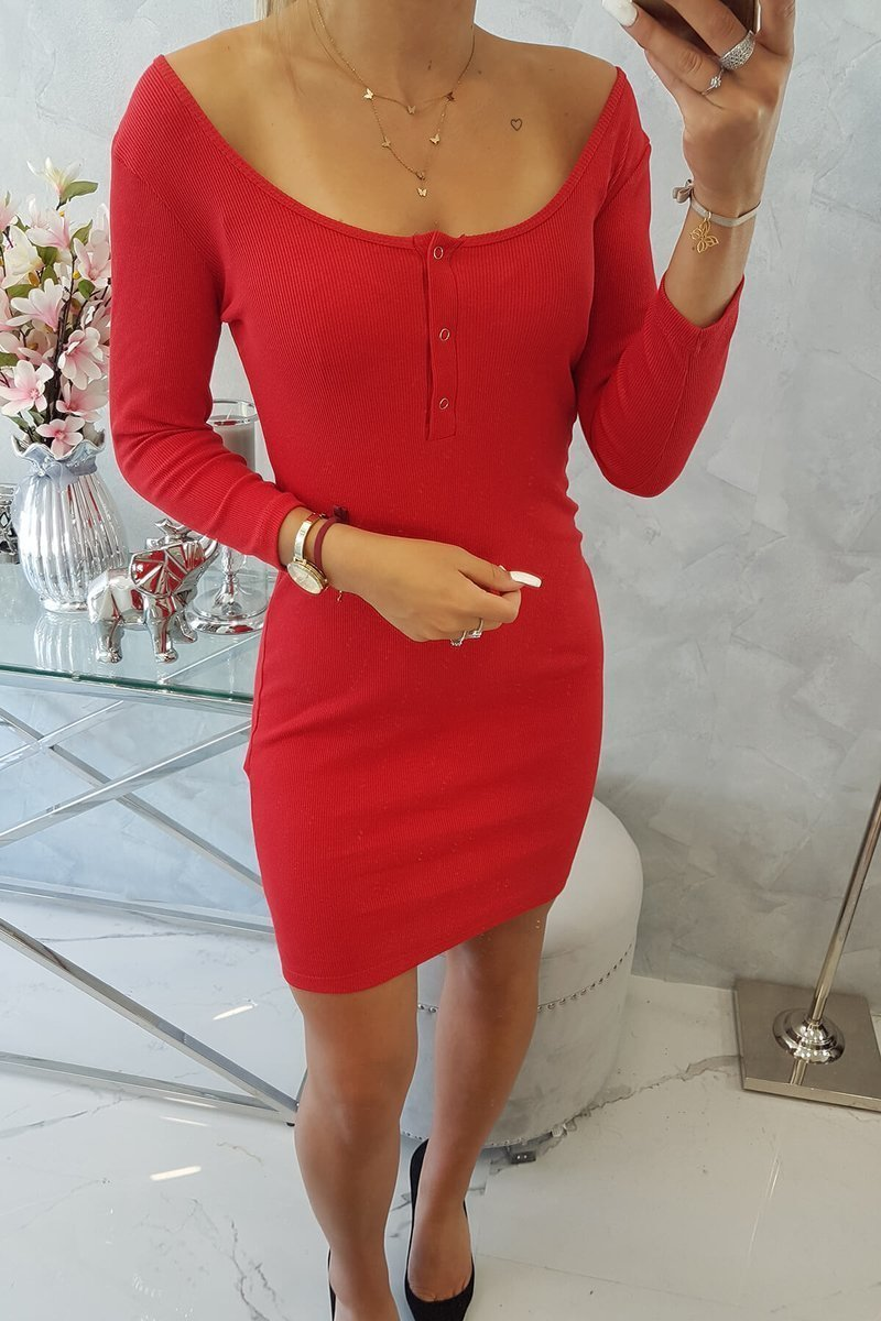 eng pl Dress with a neckline for naps red 14766 5