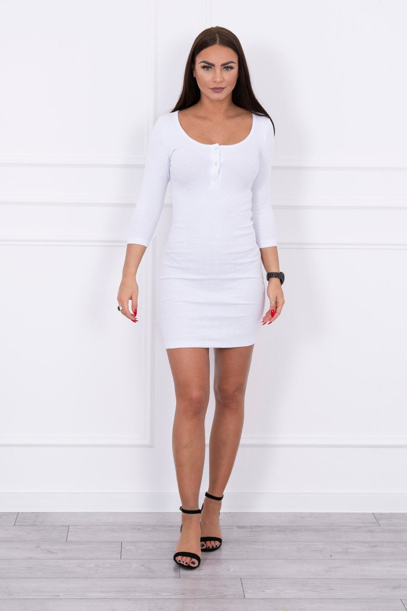 eng pl Dress with a neckline for naps white 14780 1
