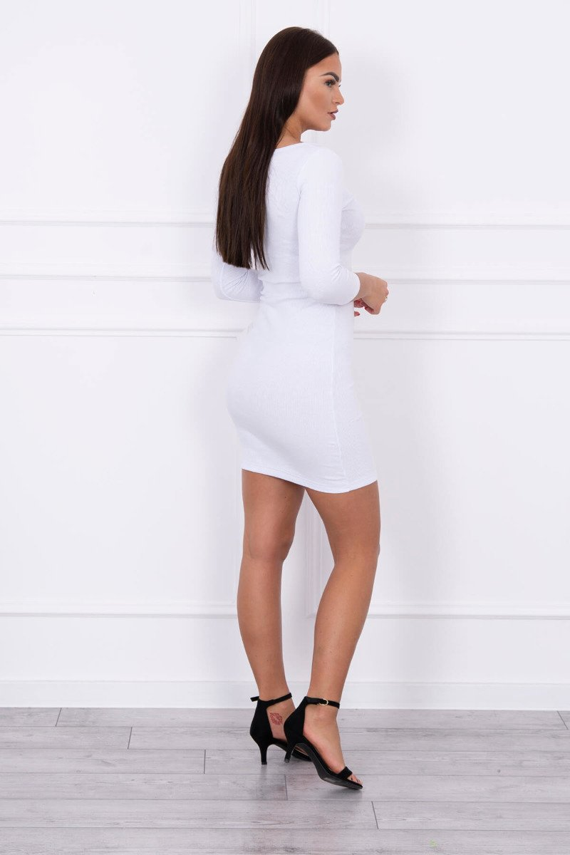 eng pl Dress with a neckline for naps white 14780 2