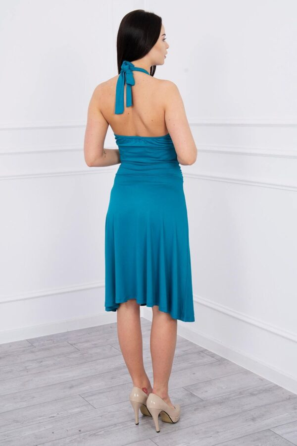 eng pl Dress with halter neck blue 8163 2