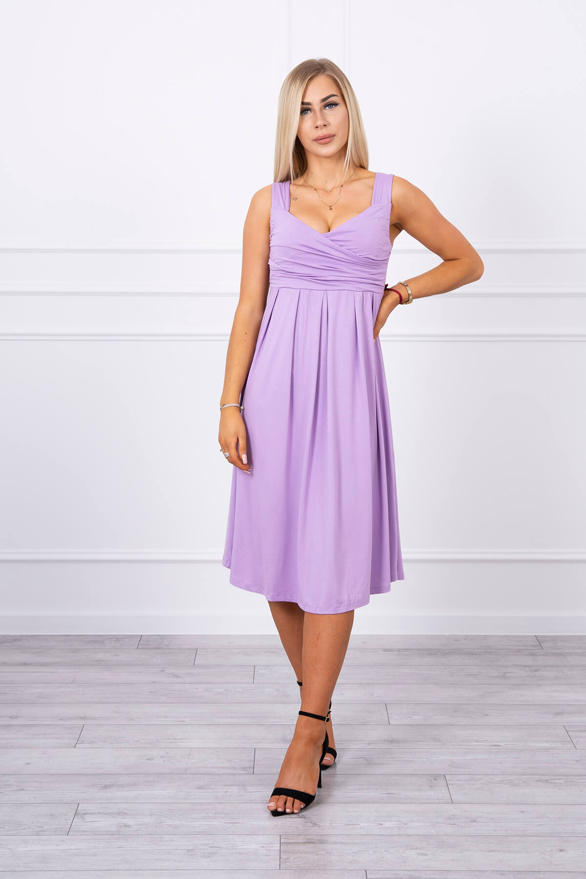 eng pl Dress with wide straps purple 17749 1