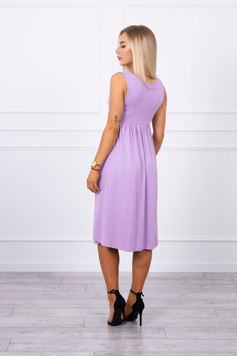 eng pl Dress with wide straps purple 17749 2