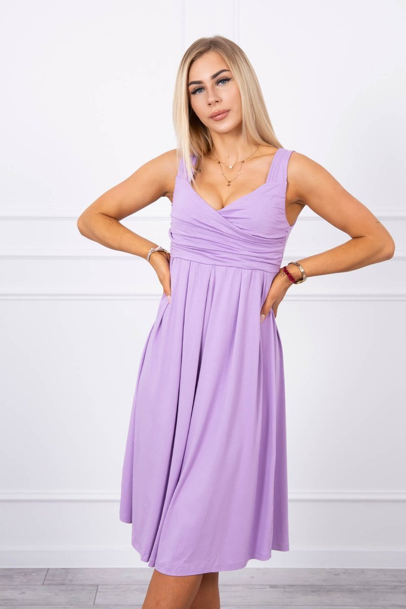 eng pl Dress with wide straps purple 17749 3