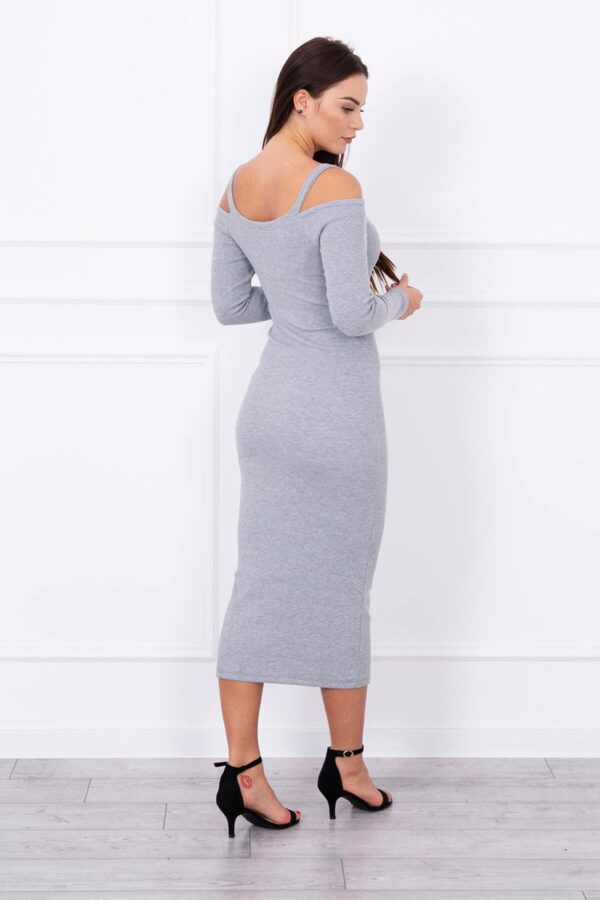 eng pl Long striated dress gray 13855 2
