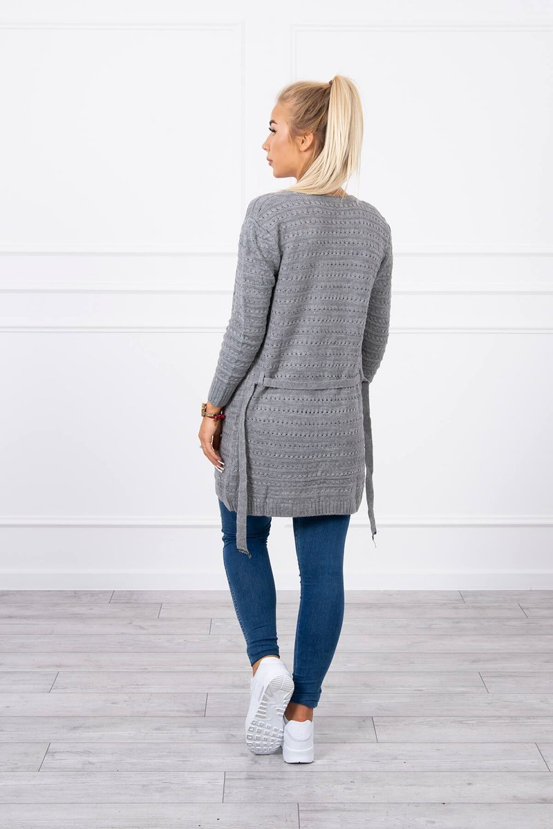 eng pl Ribbed sweater graphite 18188 2