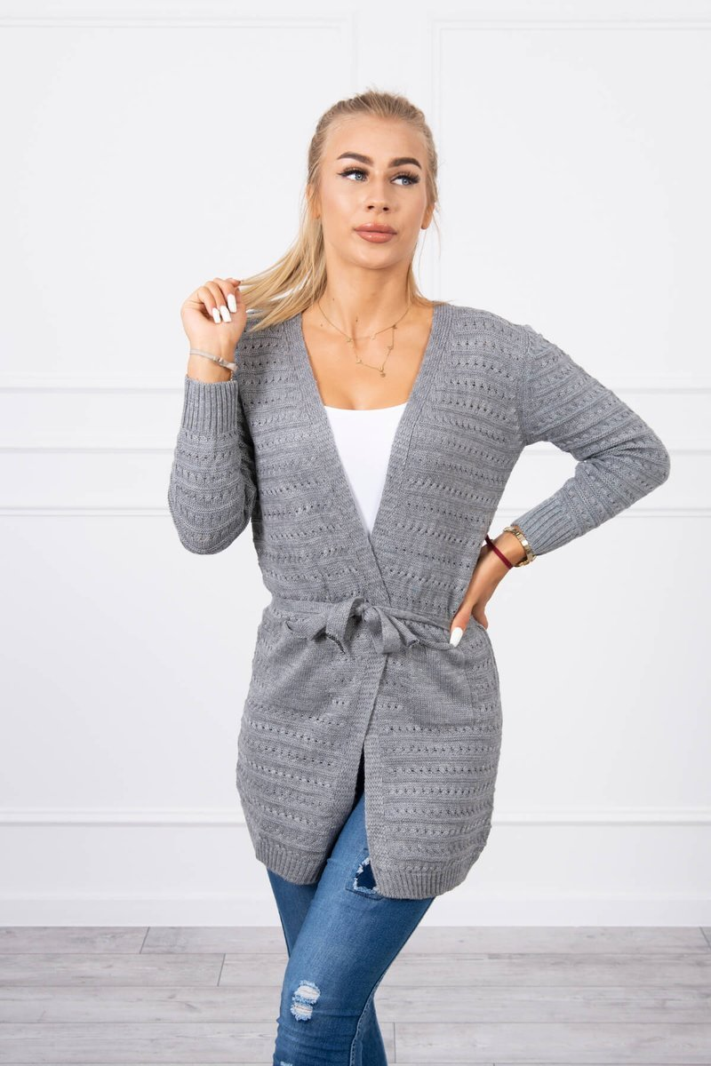 eng pl Ribbed sweater graphite 18188 3