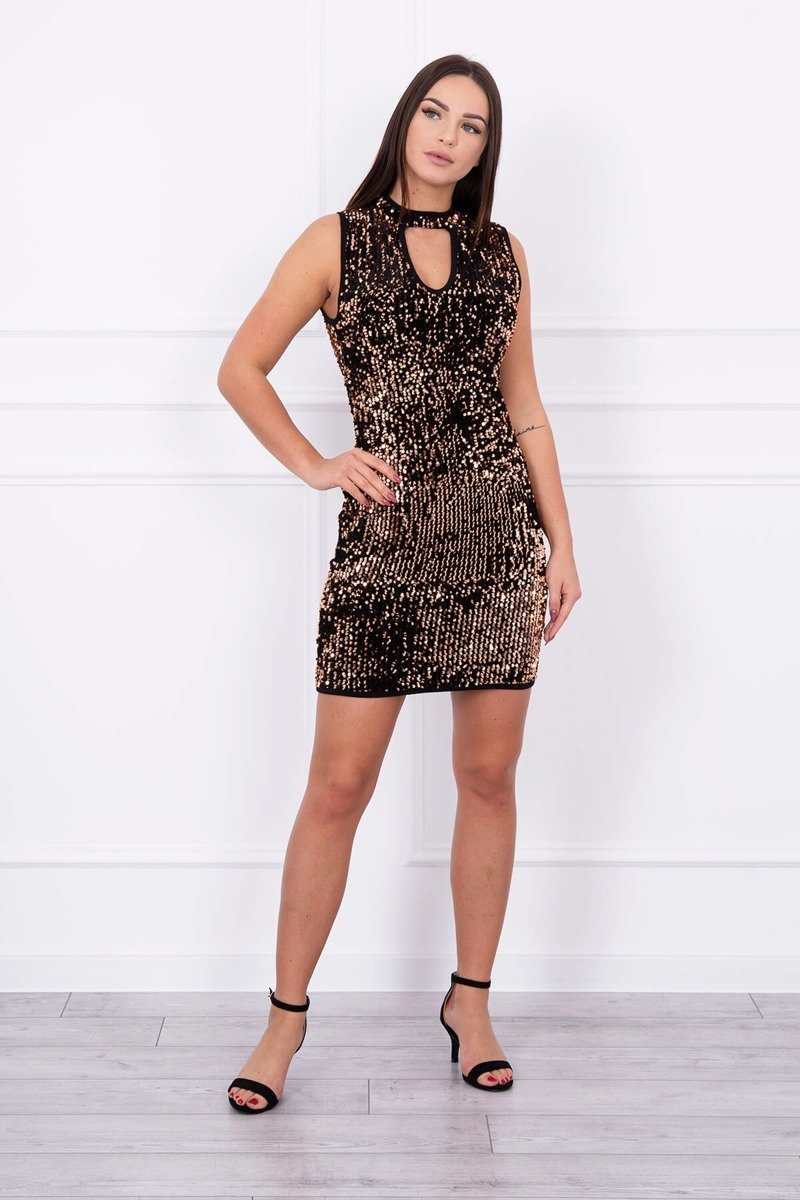 eng pl Sequin dress with a cut on the neckline foxy 14006 1