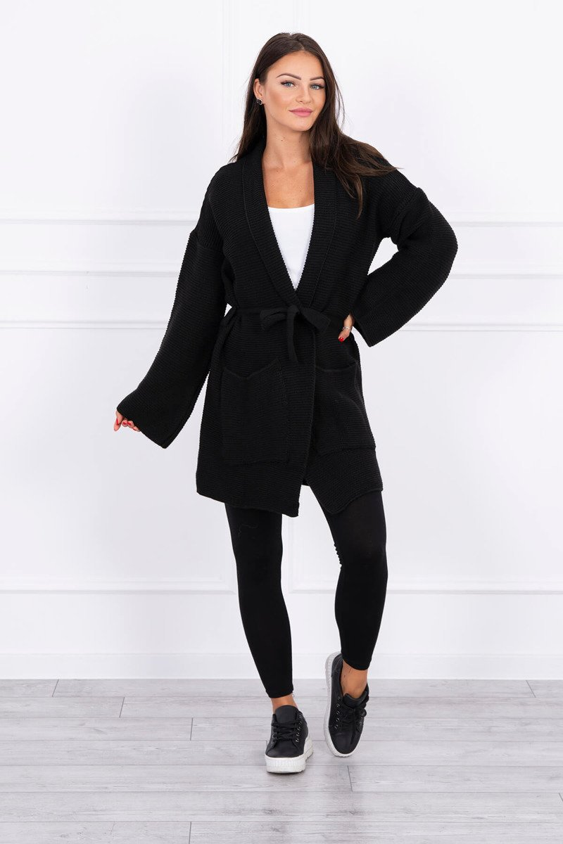 eng pl Sweater tied with pockets black 15693 1