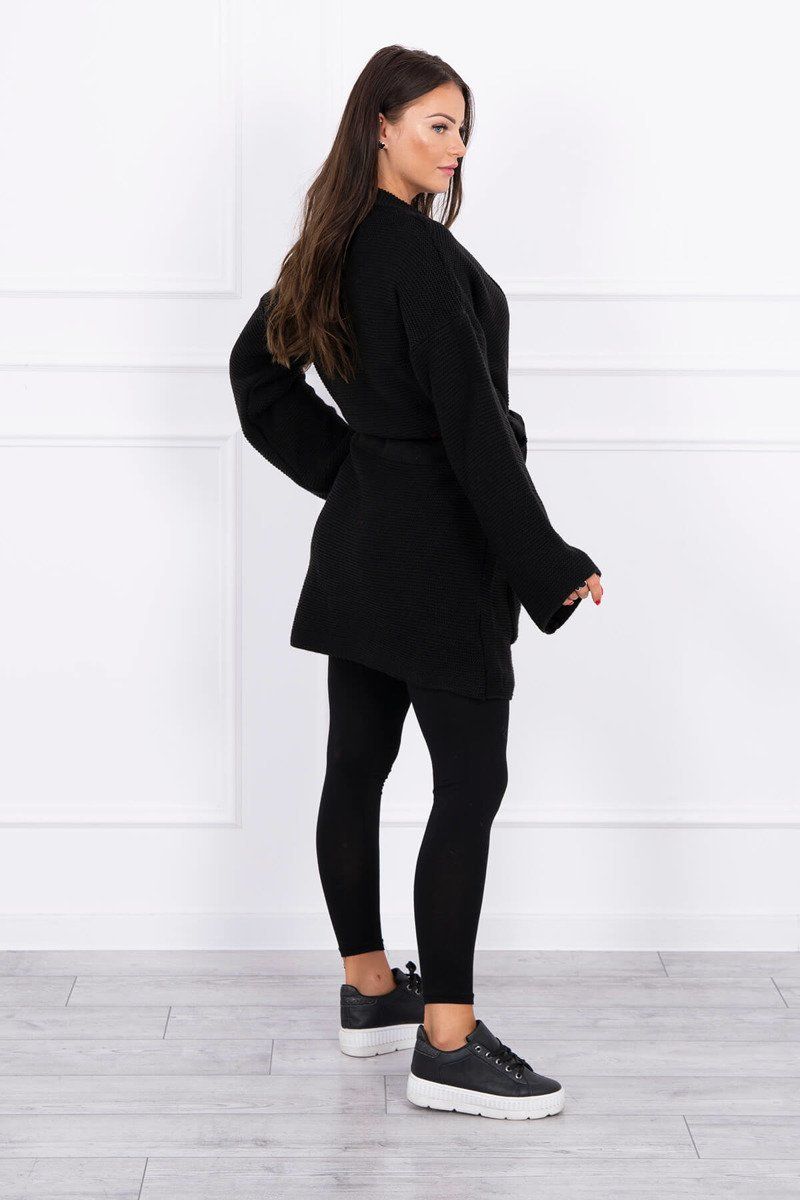 eng pl Sweater tied with pockets black 15693 2