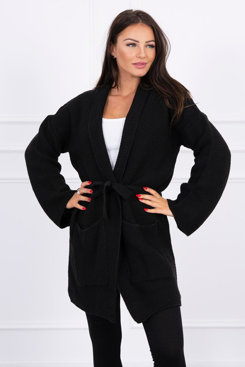 eng pl Sweater tied with pockets black 15693 5