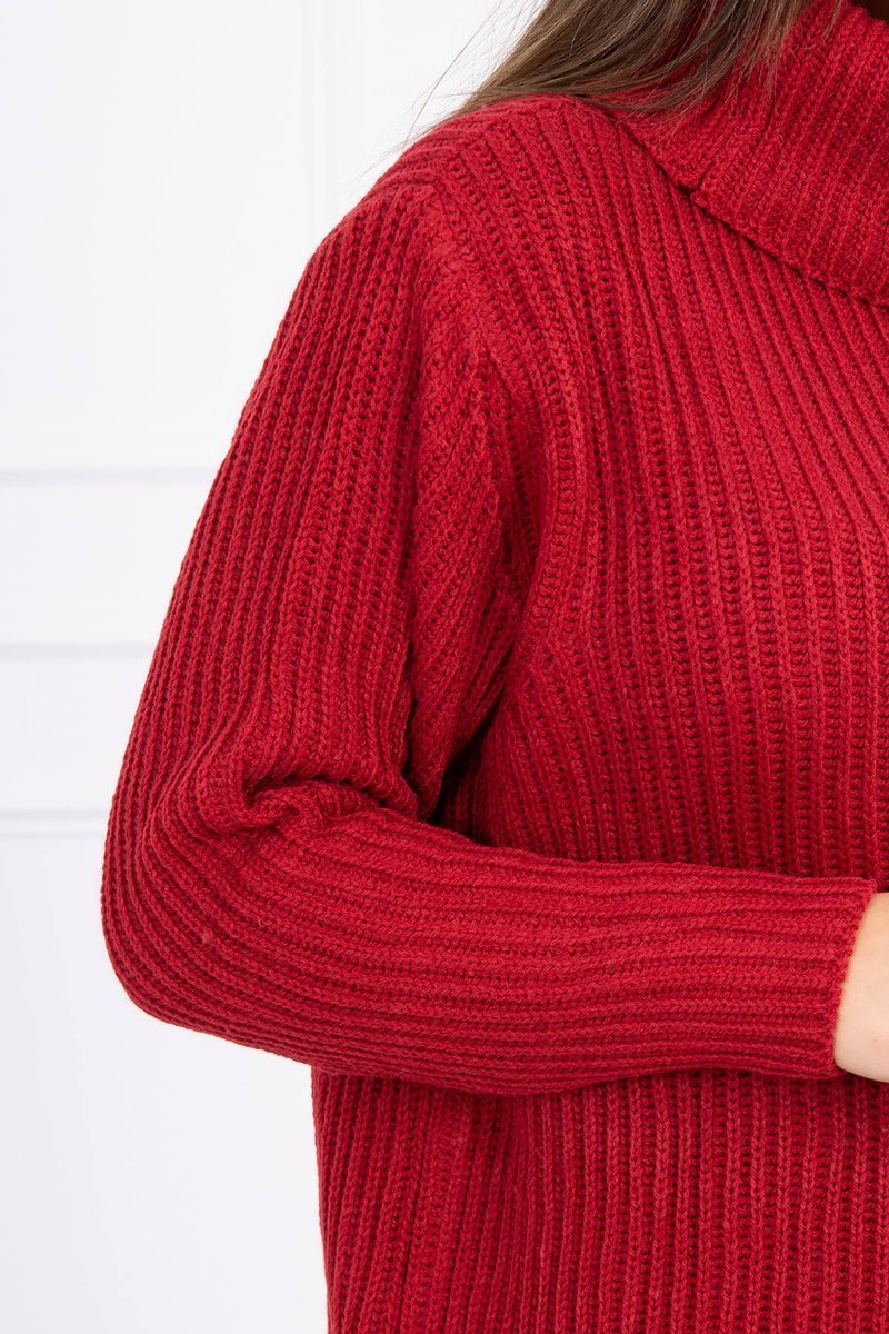 eng pl Sweater with golf burgundy 16116 3 2