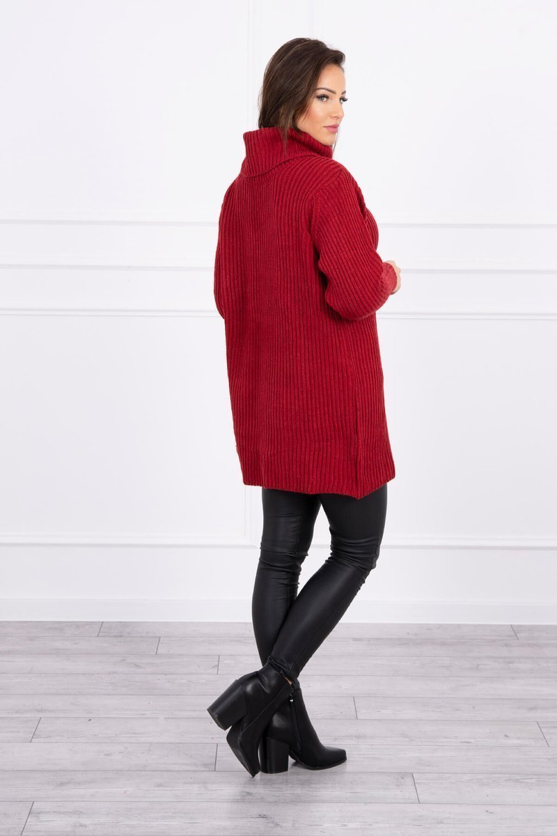 eng pl Sweater with golf burgundy 16116 4 2