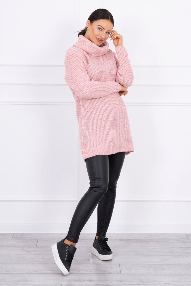 eng pl Sweater with golf powdered pink 15388 1