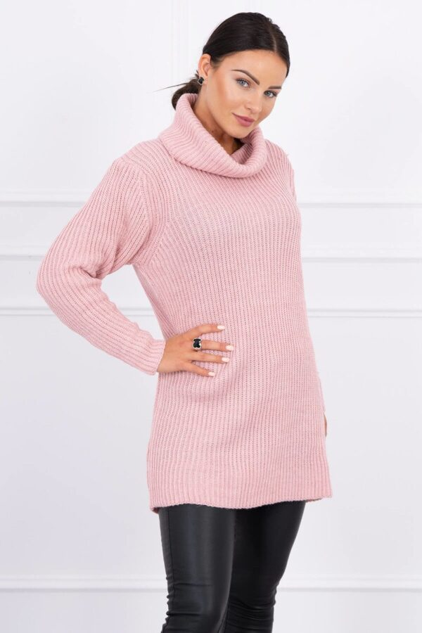 eng pl Sweater with golf powdered pink 15388 2