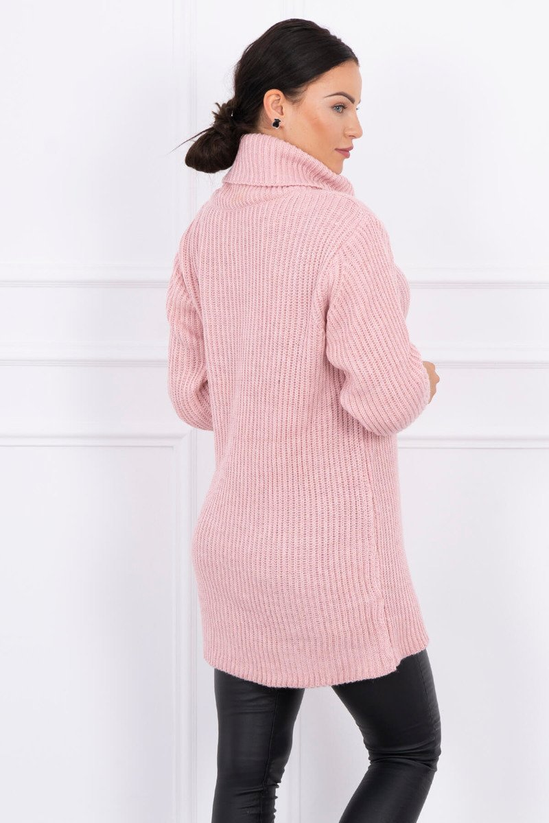 eng pl Sweater with golf powdered pink 15388 3