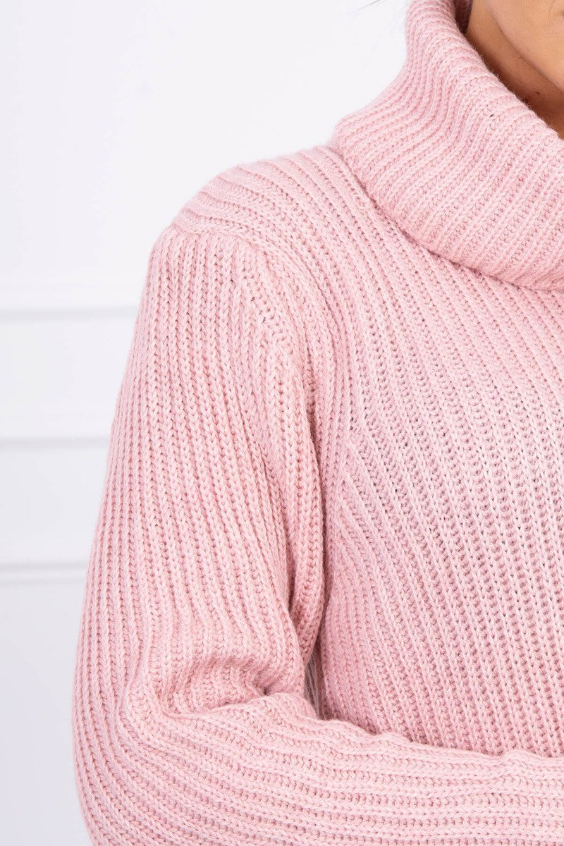 eng pl Sweater with golf powdered pink 15388 4