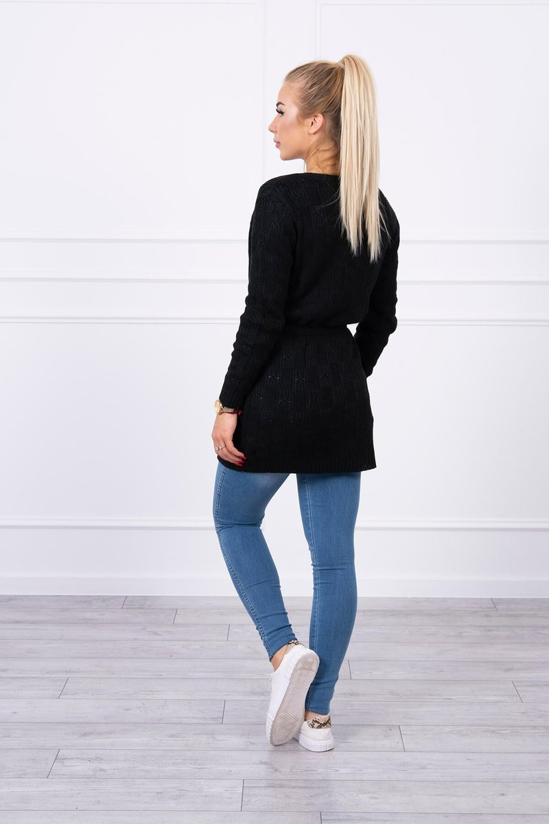 eng pl Sweater with little braids black 17811 4