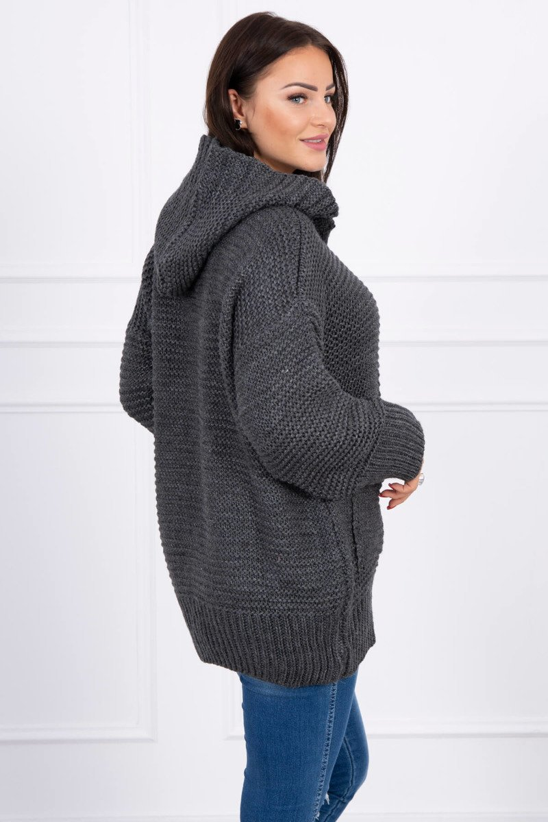 eng pl Sweater with press studs graphite 15809 2
