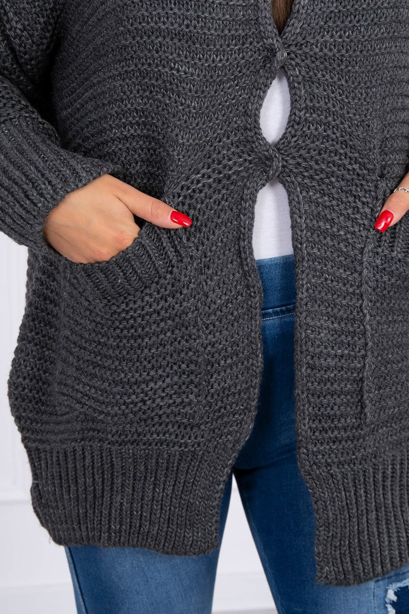 eng pl Sweater with press studs graphite 15809 3