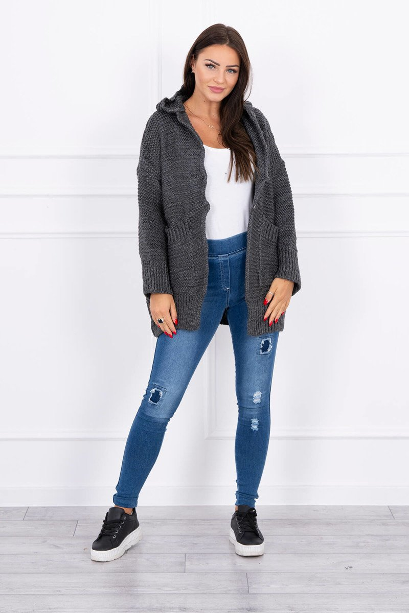 eng pl Sweater with press studs graphite 15809 4