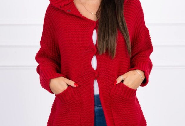 eng pl Sweater with press studs red 15810 1