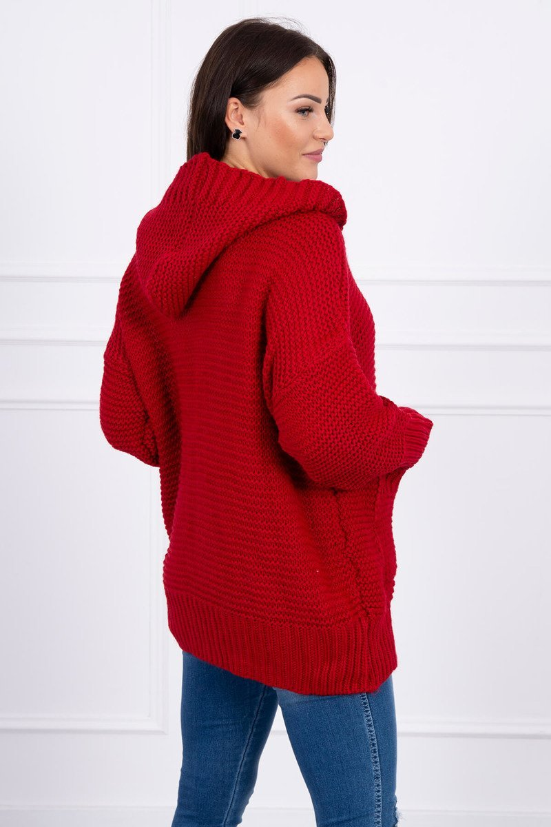 eng pl Sweater with press studs red 15810 3