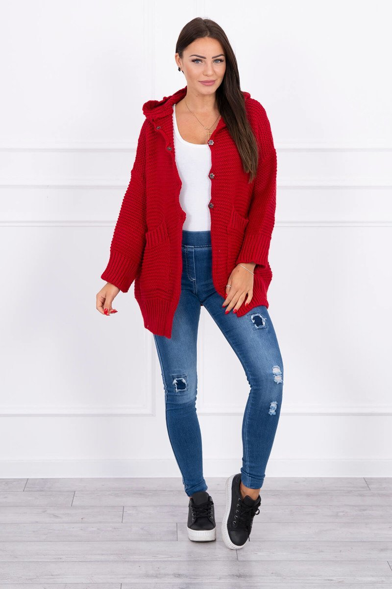 eng pl Sweater with press studs red 15810 4