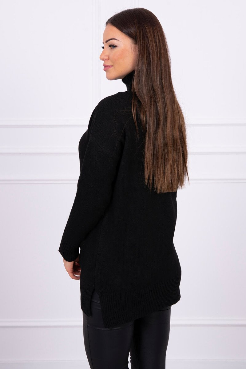 eng pl Sweater with stand up collar black 16304 1