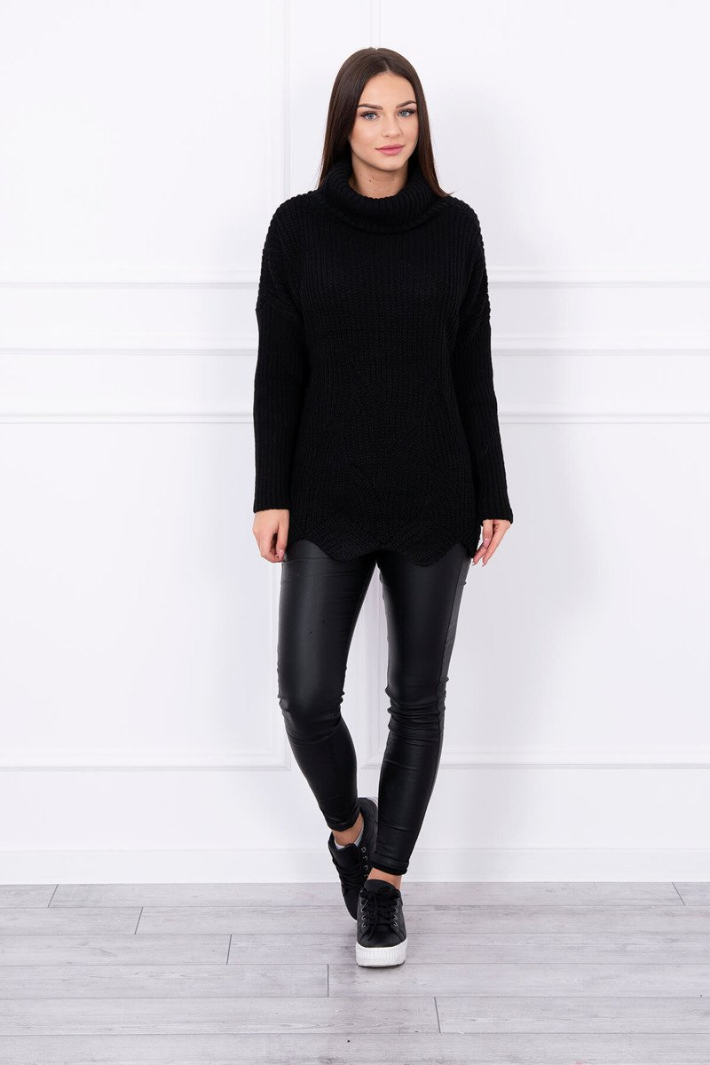 eng pl Sweater with wave black 13975 1