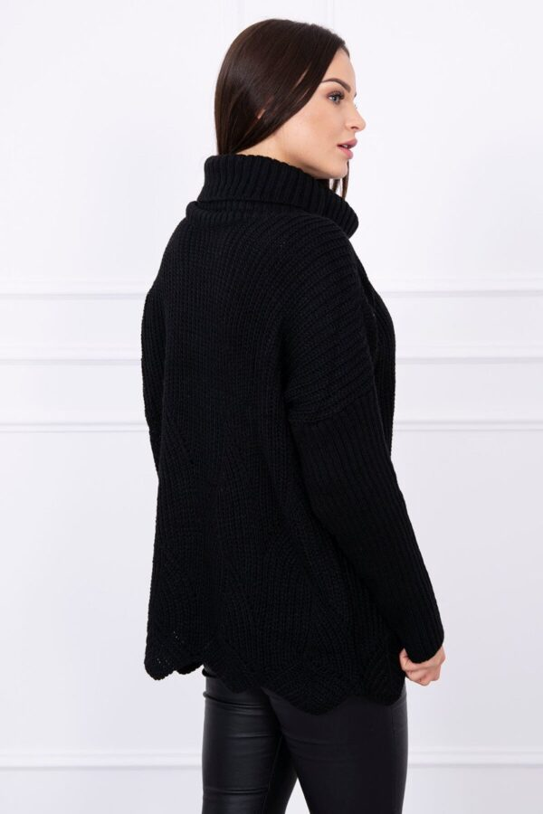 eng pl Sweater with wave black 13975 2