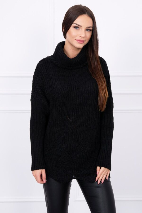 eng pl Sweater with wave black 13975 3