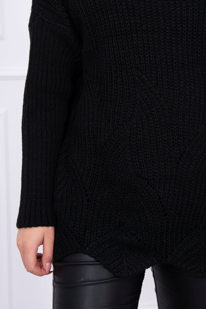 eng pl Sweater with wave black 13975 4