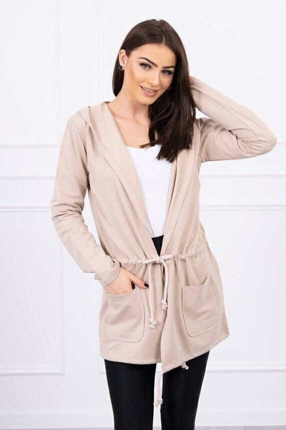 eng pm Cardigan tied at the waist beige 16294 1