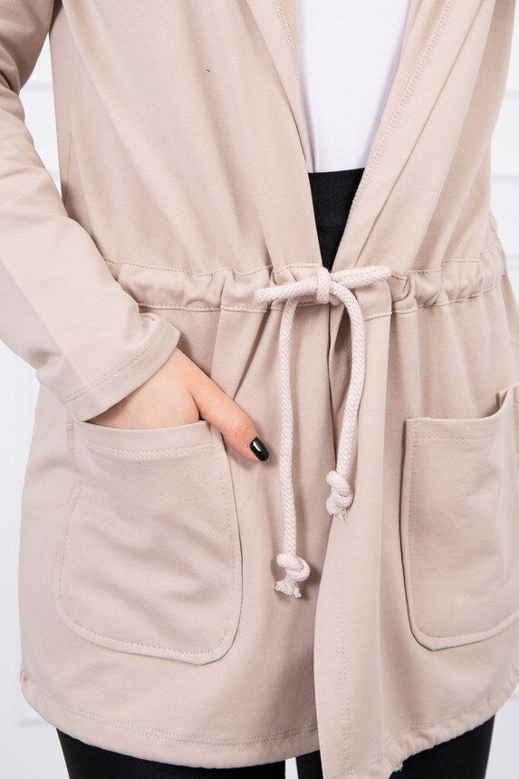 eng pm Cardigan tied at the waist beige 16294 3