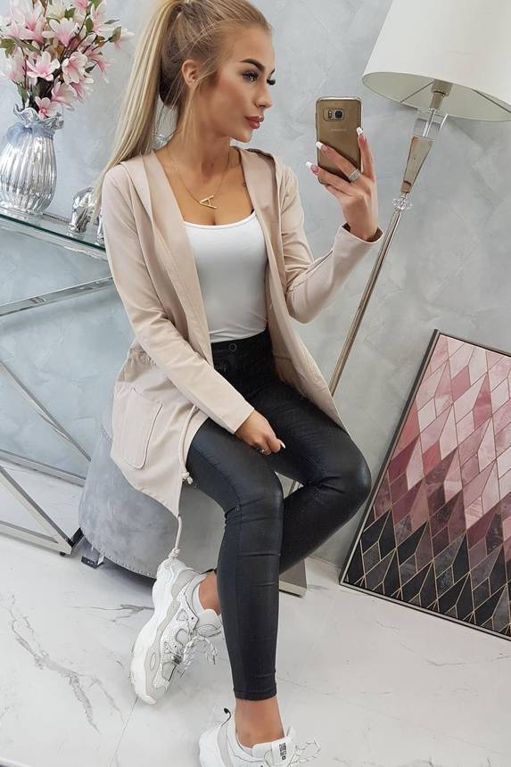 eng pm Cardigan tied at the waist beige 16294 6