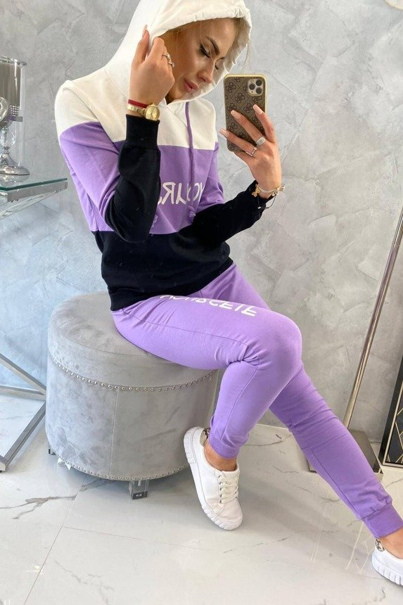 eng pm Set with print Yourself ecru purple 17770 5